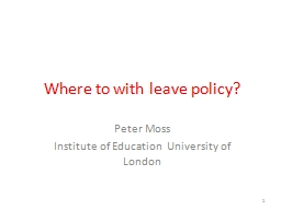 Where to with leave policy?