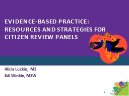 Evidence-Based Practice: Resources and strategies for Citiz