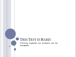 This Test is Hard!