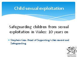 Safeguarding children from