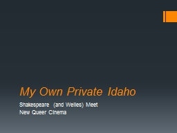 My Own Private Idaho PowerPoint PPT Presentation