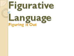 Figurative Language PowerPoint PPT Presentation