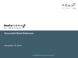 Successful Brand Extension PowerPoint PPT Presentation
