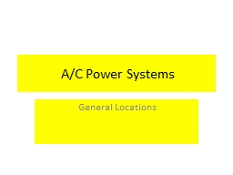 A/C Power Systems PowerPoint PPT Presentation