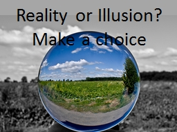Reality or Illusion?