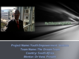 Project Name: Youth Empowerment Venture