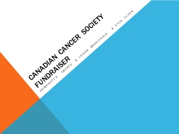 Canadian cancer society FUNDRAISER