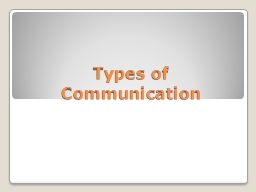 Types of Communication PowerPoint PPT Presentation