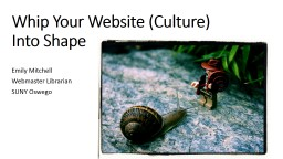 Whip Your Website (Culture) Into
