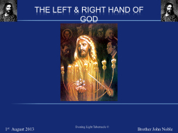 The Left & RIGHT HAND of God