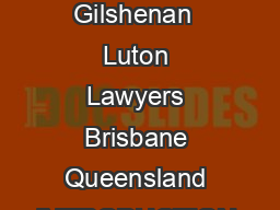 MANDATORY SENTENCING  WHERE FROM WHERE TO AND WHY  By Glen Cranny Partner Gilshenan  Luton Lawyers Brisbane Queensland INTRODUCTION Mandatory sentences are not a new concept dating b ack in Australia PowerPoint PPT Presentation