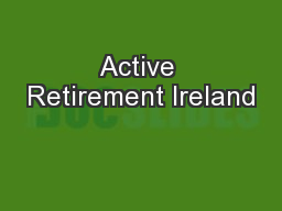 Active Retirement Ireland