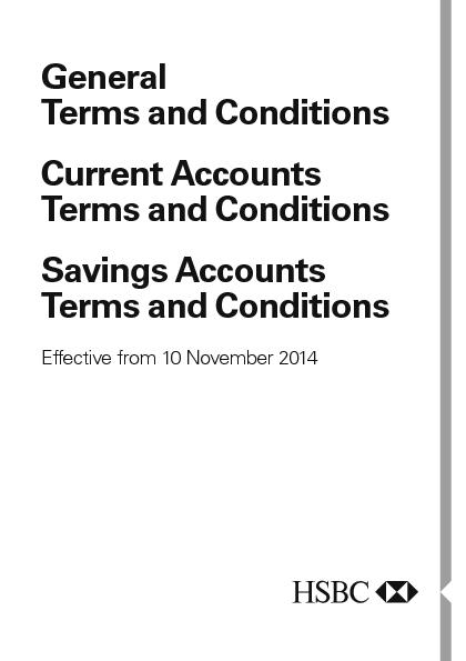 General Terms and Conditions Current Accounts Terms and ConditionsSavi