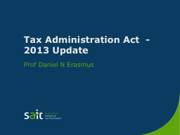 Tax Administration Act  -