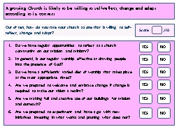 A growing Church is likely to