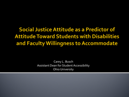 Social Justice Attitude as a Predictor of