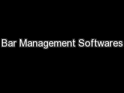 Bar Management Softwares