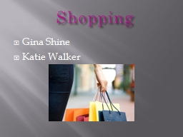 Shopping PowerPoint PPT Presentation