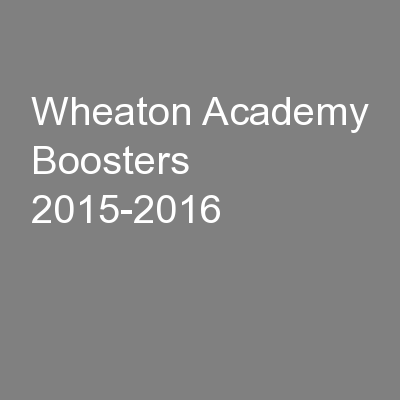 Wheaton Academy Boosters 2015-2016