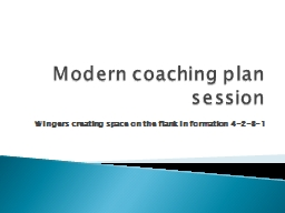 Modern coaching plan session