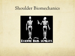 Shoulder Biomechanics PowerPoint Presentation, PPT - DocSlides