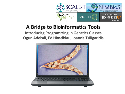 A Bridge to Bioinformatics Tools PowerPoint PPT Presentation