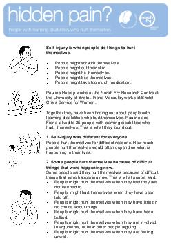 injury is when people do things to hurt PDF document - DocSlides