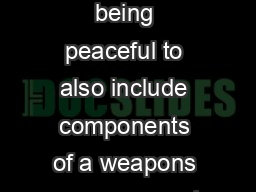 programme went from being peaceful to also include components of a weapons programme at a later stage