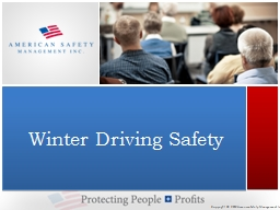 Winter Driving Safety PowerPoint PPT Presentation