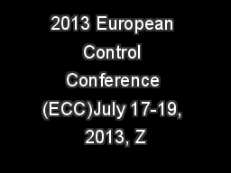 european control conference: