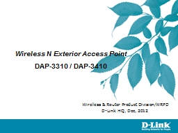 Wireless N Exterior Access Point