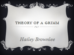 THEORY OF A GRIMM