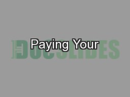 Paying Your
