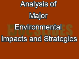 Analysis of Major Environmental Impacts and Strategies