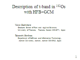Description of t-band in