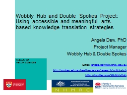 Wobbly Hub and Double Spokes Project: Using accessible and