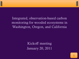 Integrated, observation-based carbon monitoring for wooded