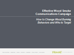 Effective Wood Smoke Communications Campaign PowerPoint PPT Presentation
