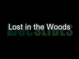 Lost in the Woods PowerPoint PPT Presentation