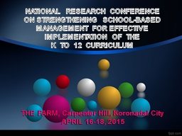 NATIONAL  RESEARCH  CONFERENCE