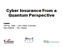 Cyber Insurance From a Quantum Perspective