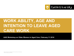 AAG Workshop on Older Women in Aged Care, February 11 2014