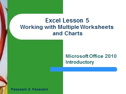 1 Excel Lesson PowerPoint PPT Presentation