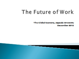The Future of Work PowerPoint PPT Presentation