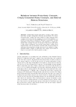 Relations between Protofuzzy Concepts Crisply Generated Fuzzy Concepts and Interval Pattern Structures Vera V