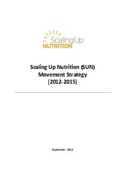 Scaling Up Nutrition SUN Movement Strategy   September   ynopsis