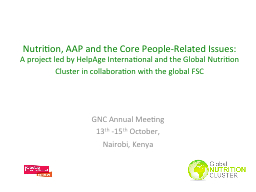 Nutrition, AAP and the Core People-Related