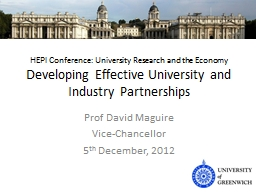 HEPI Conference: University Research and the Economy PowerPoint PPT Presentation