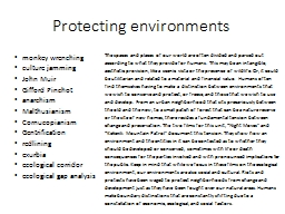 Protecting environments PowerPoint PPT Presentation