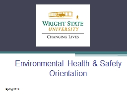 Environmental Health & Safety Orientation